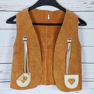 Vintage Cowboy Western Boys Vest/Chaps Leather 12